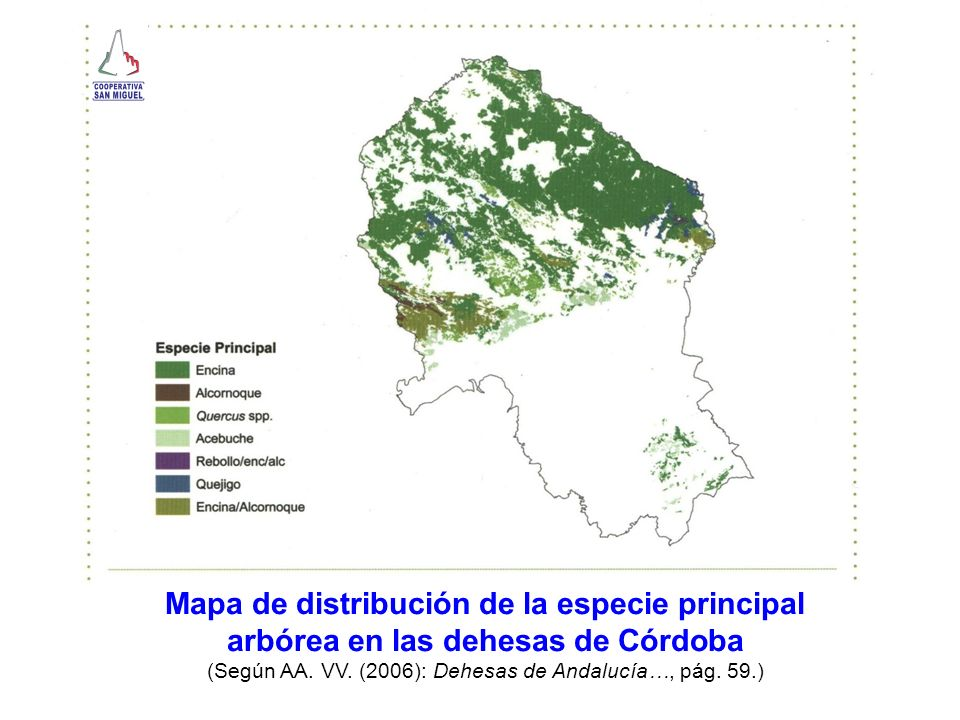 Mapa de distribución de la especie principal
