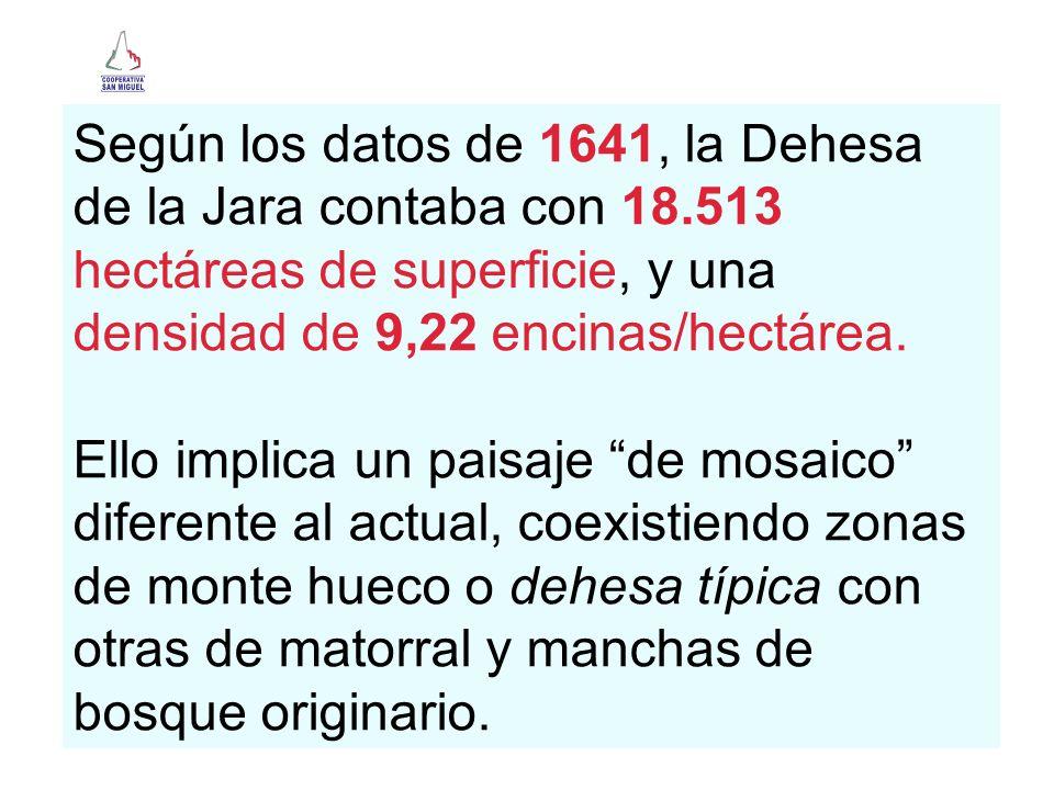 Según los datos de 1641, la Dehesa de la Jara contaba con 18