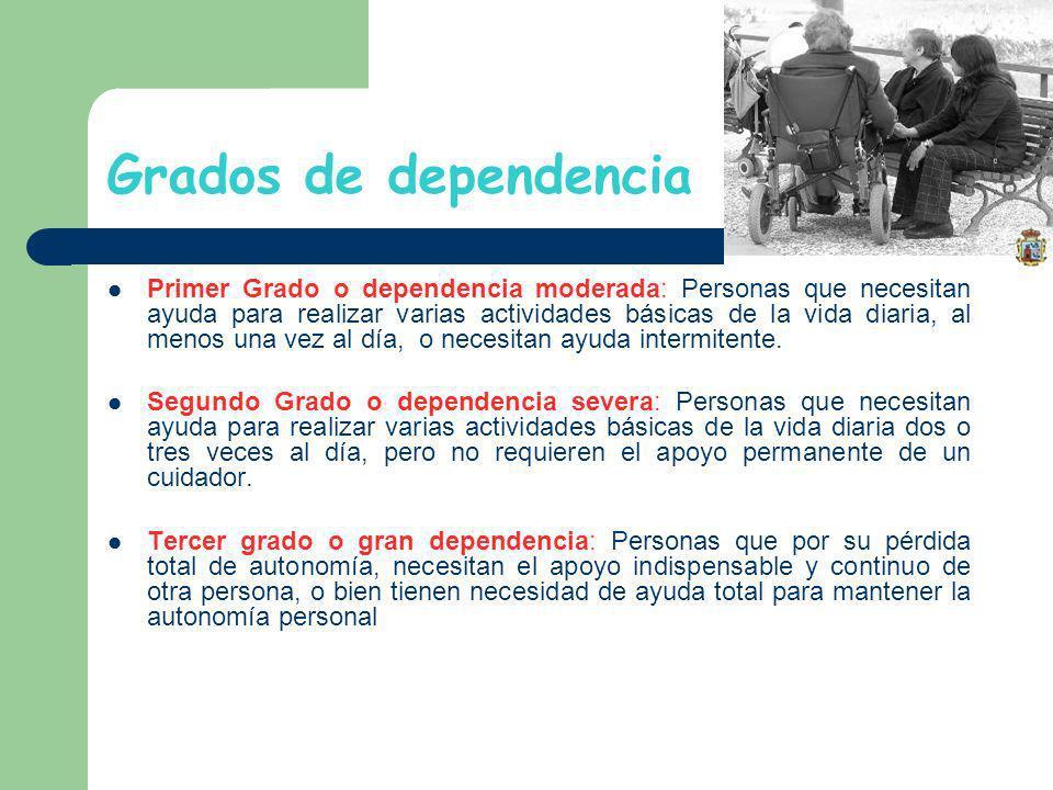 Grados de dependencia