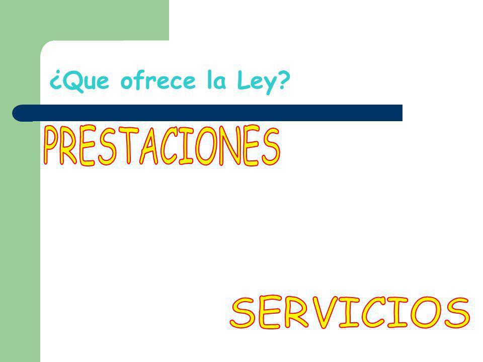 ¿Que ofrece la Ley PRESTACIONES SERVICIOS