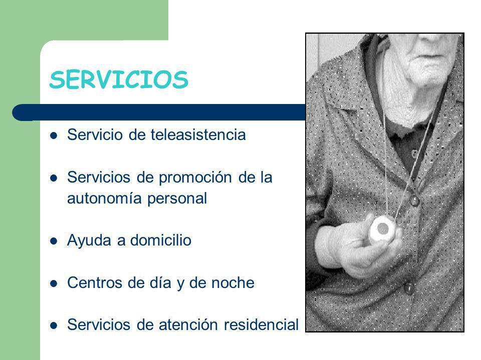 SERVICIOS Servicio de teleasistencia Servicios de promoción de la