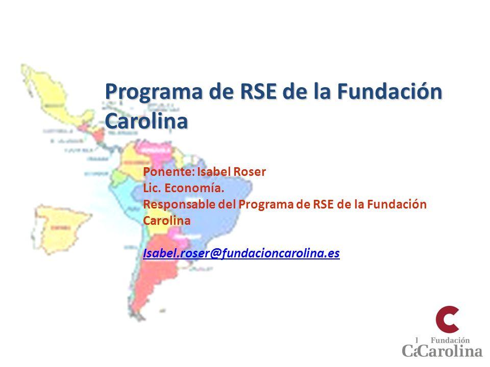 Programa de RSE de la Fundación Carolina