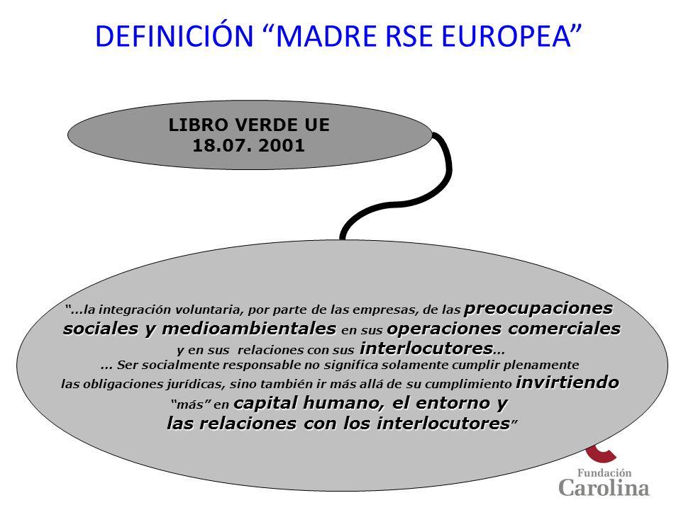 DEFINICIÓN MADRE RSE EUROPEA