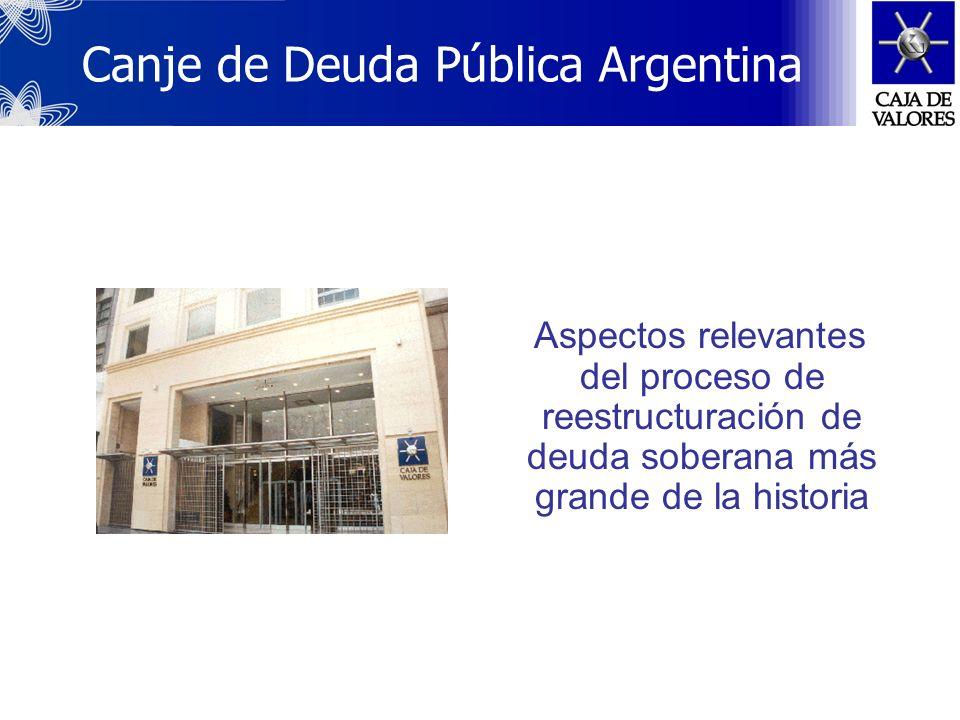 Canje de Deuda Pública Argentina