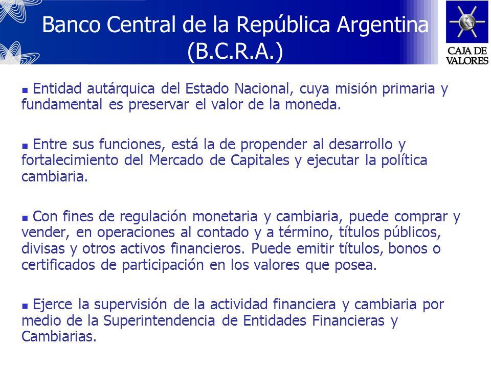 Banco Central de la República Argentina (B.C.R.A.)