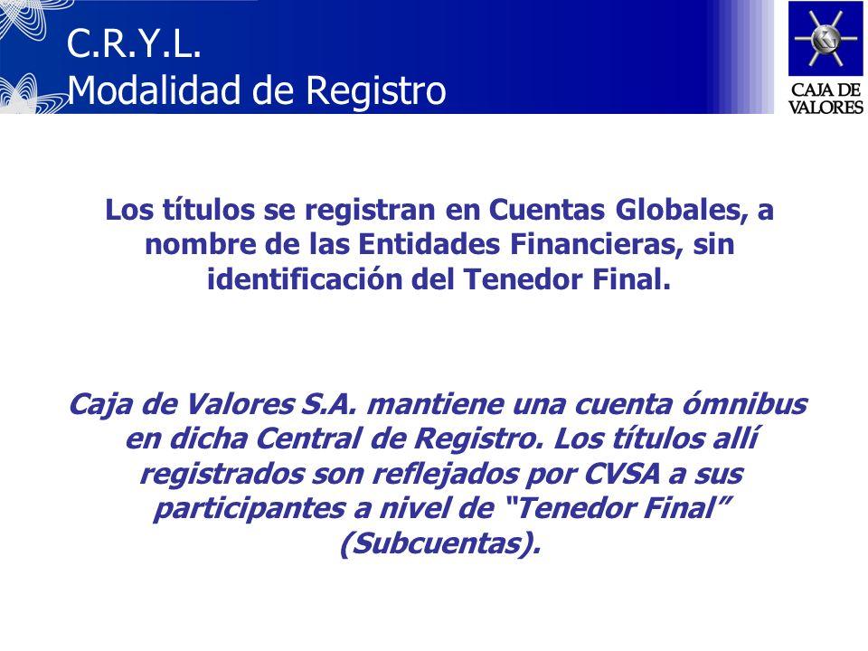 C.R.Y.L. Modalidad de Registro