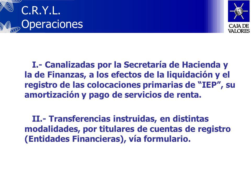C.R.Y.L. Operaciones
