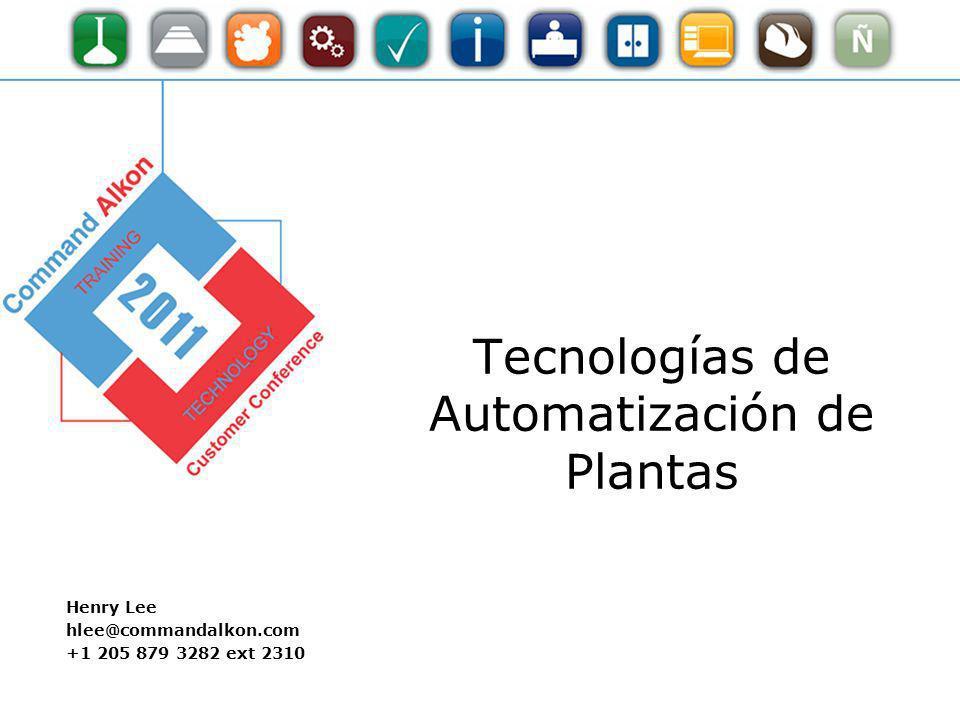 Tecnologías de Automatización de Plantas