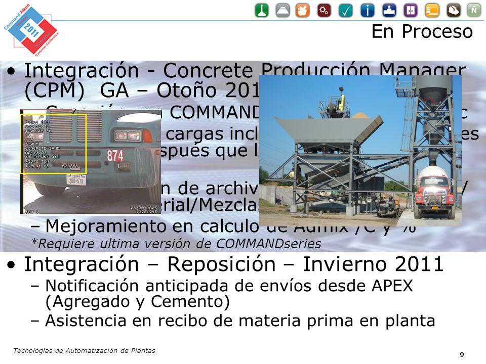 Integración - Concrete Producción Manager (CPM) GA – Otoño 2011