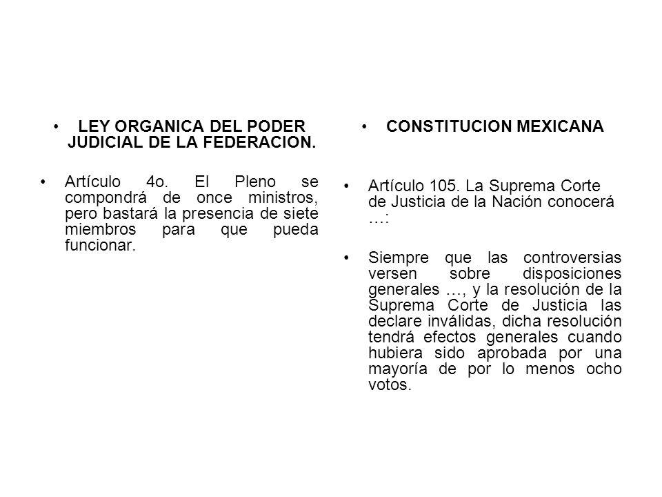 LEY ORGANICA DEL PODER JUDICIAL DE LA FEDERACION.