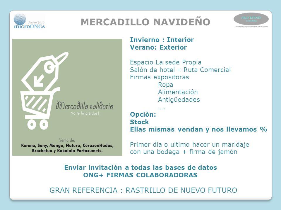 Enviar invitación a todas las bases de datos ONG+ FIRMAS COLABORADORAS