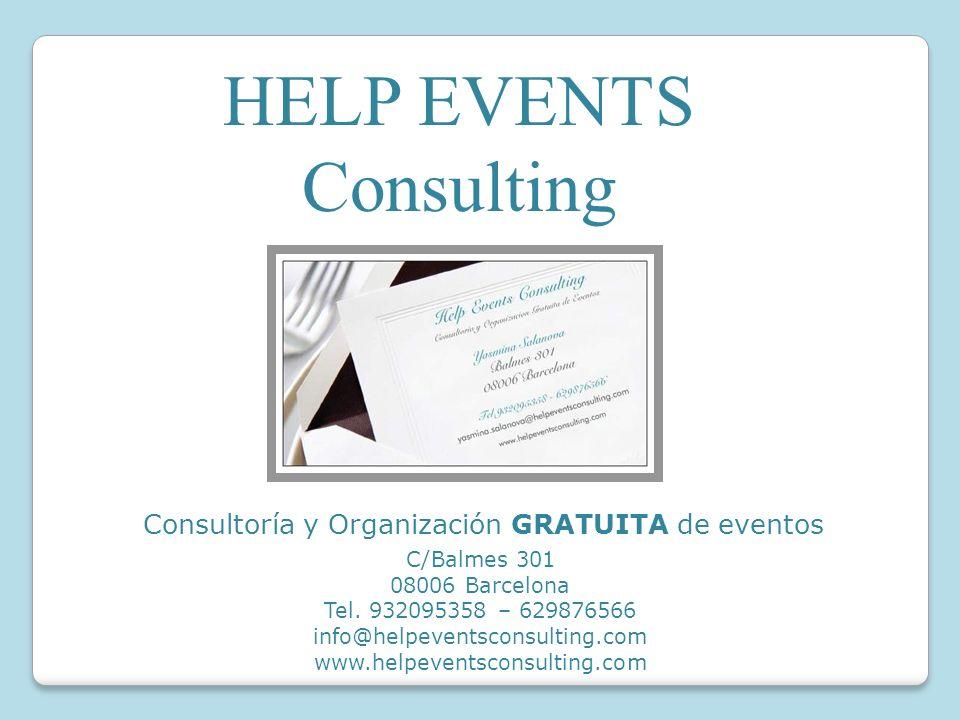 Consultoría y Organización GRATUITA de eventos