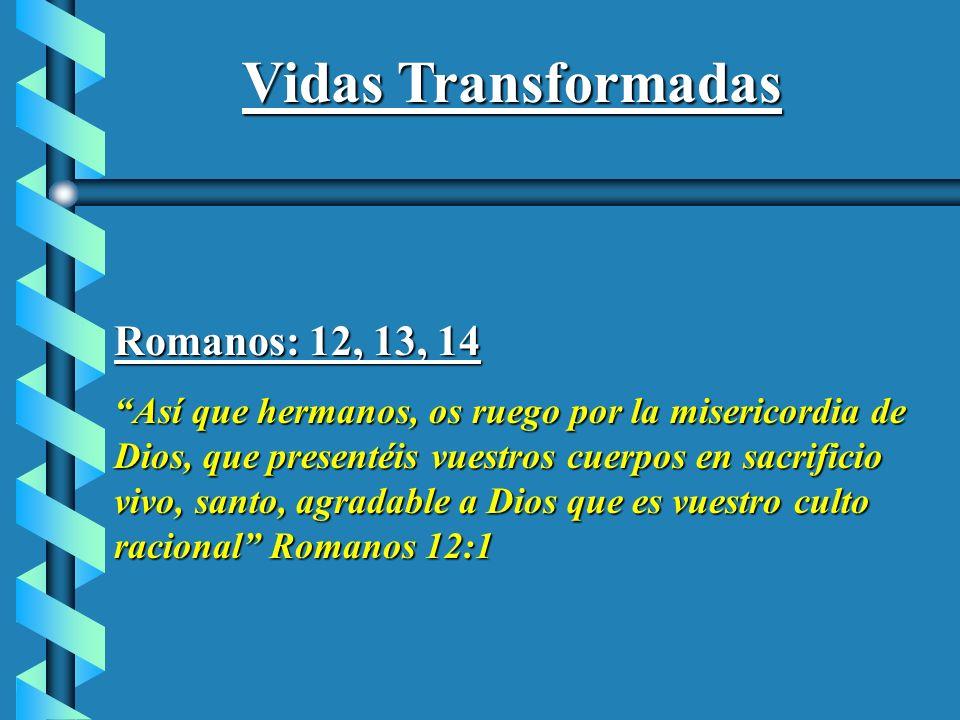 Vidas Transformadas Romanos: 12, 13, 14
