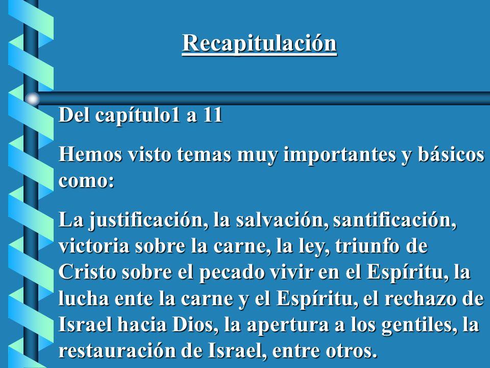Recapitulación Del capítulo1 a 11