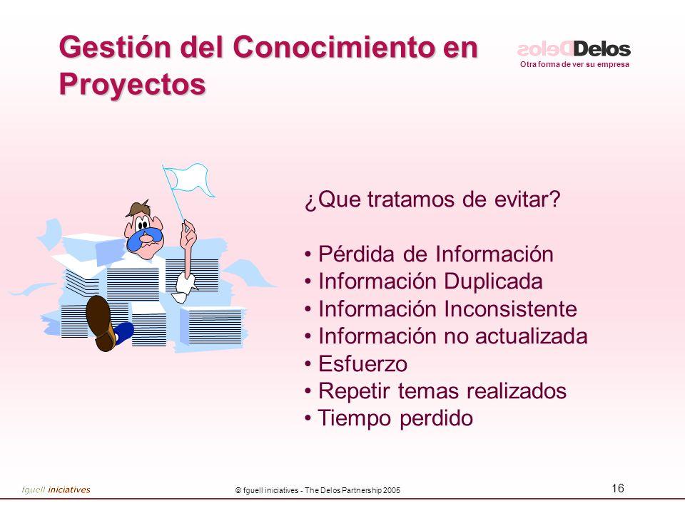 Gestión del Conocimiento en Proyectos