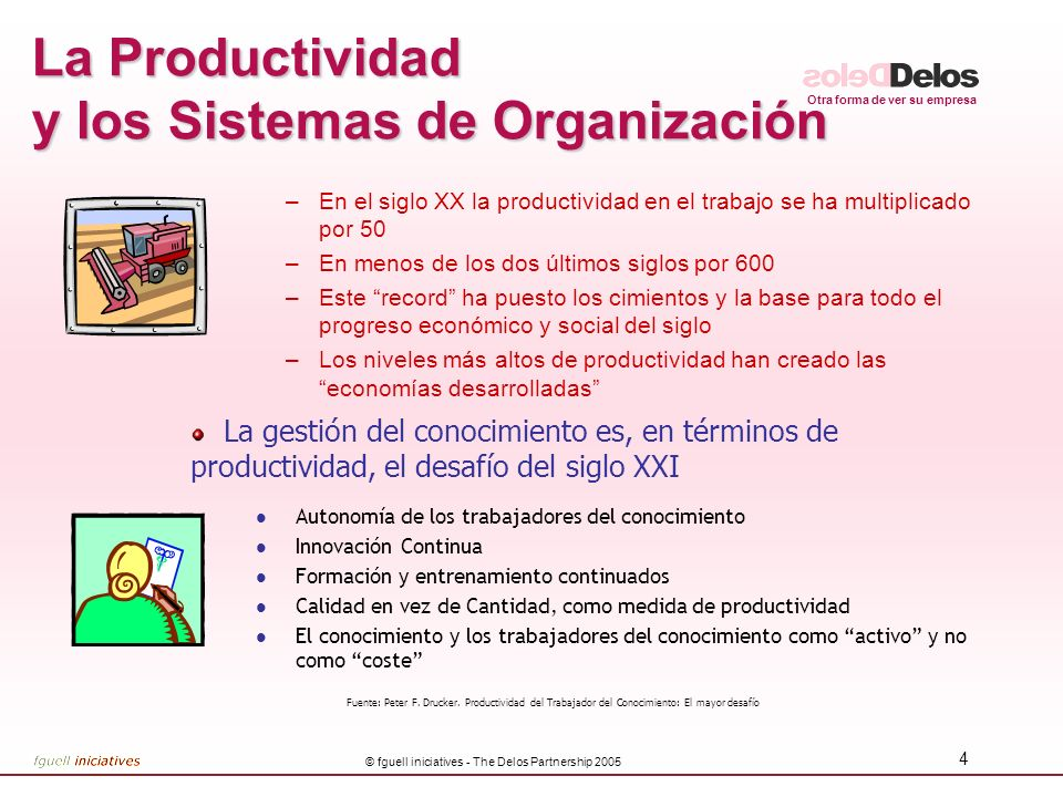 La Productividad y los Sistemas de Organización