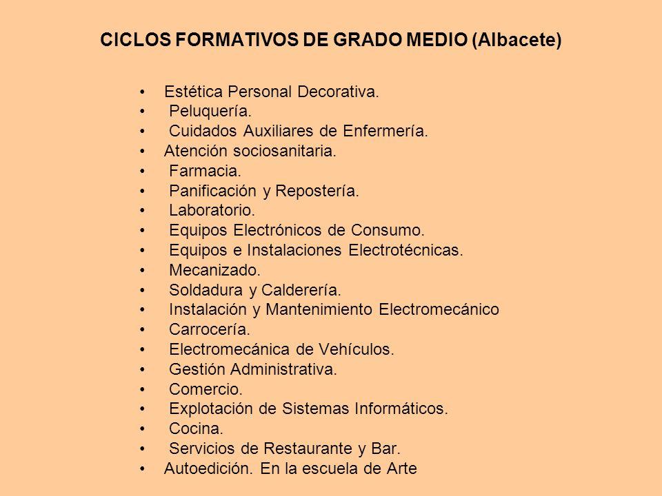 CICLOS FORMATIVOS DE GRADO MEDIO (Albacete)