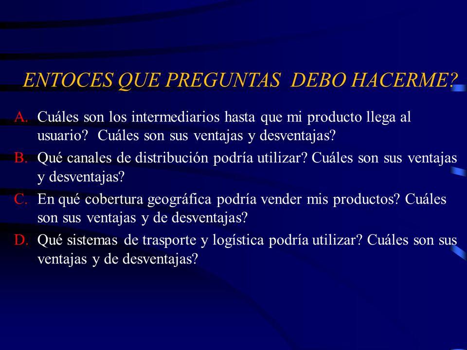 ENTOCES QUE PREGUNTAS DEBO HACERME