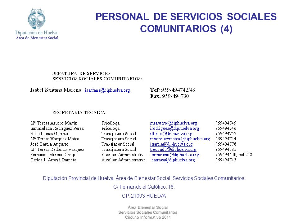 PERSONAL DE SERVICIOS SOCIALES COMUNITARIOS (4)