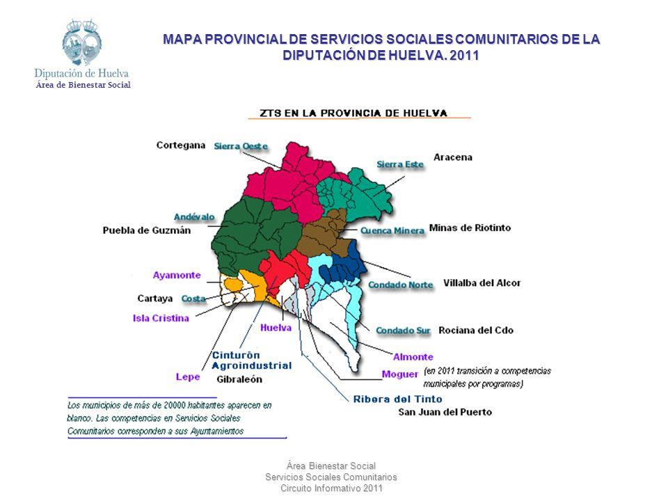 MAPA PROVINCIAL DE SERVICIOS SOCIALES COMUNITARIOS DE LA DIPUTACIÓN DE HUELVA. 2011