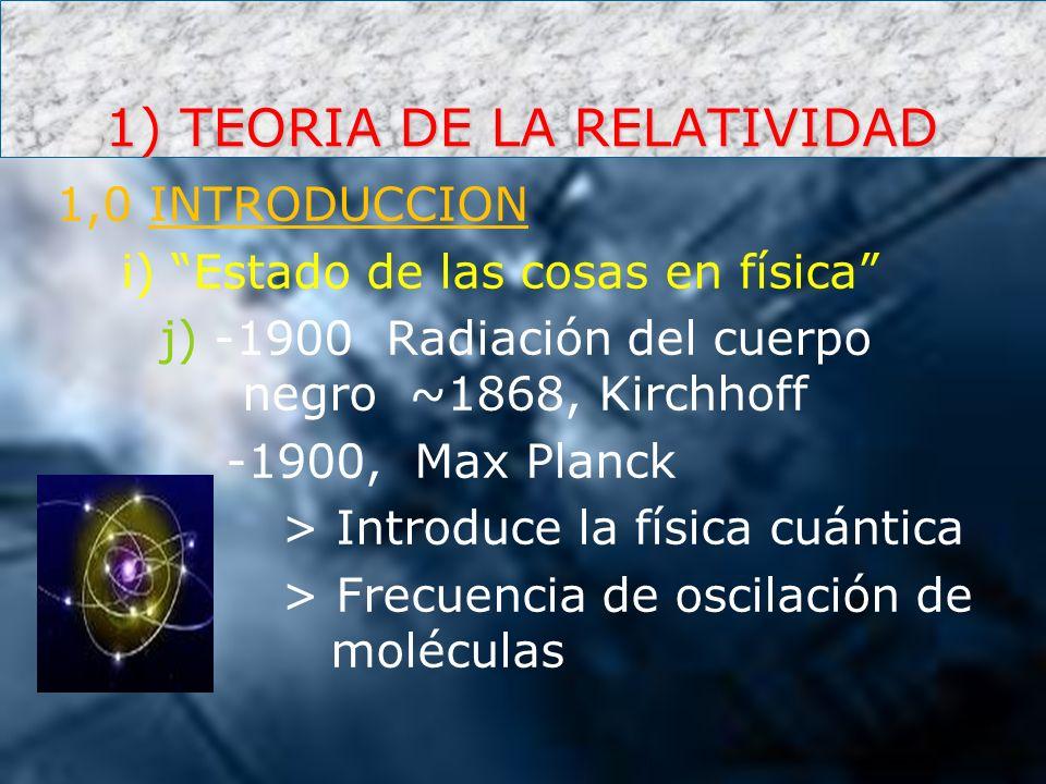 1) TEORIA DE LA RELATIVIDAD