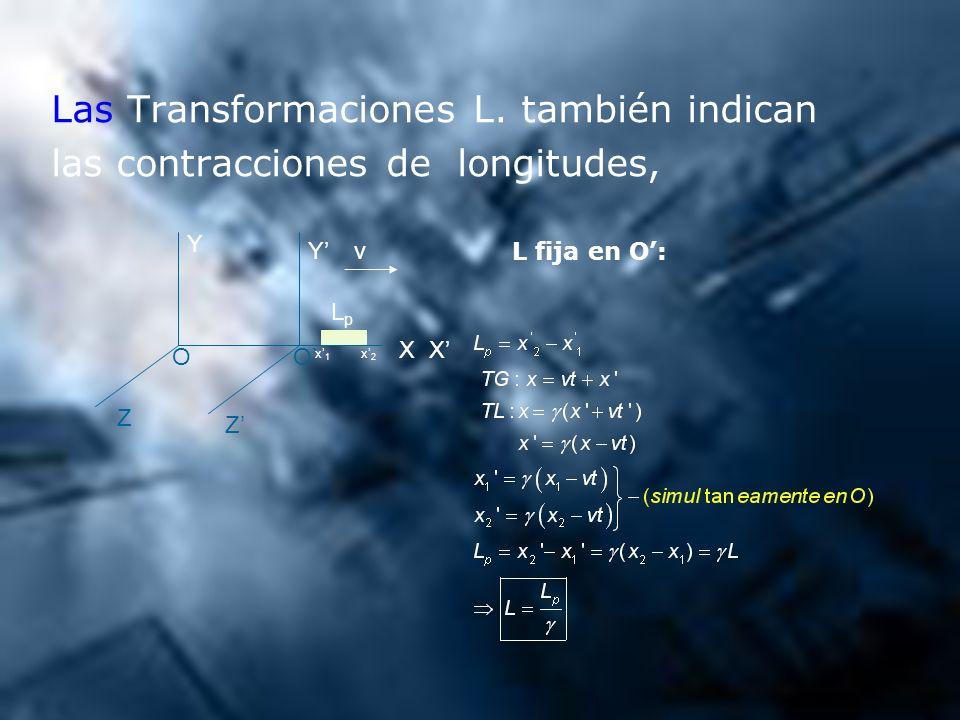 Las Transformaciones L. también indican