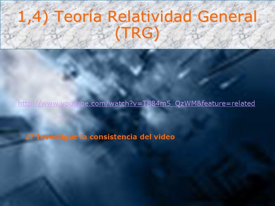 1,4) Teoría Relatividad General (TRG)