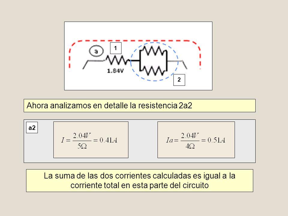 Ahora analizamos en detalle la resistencia 2a2