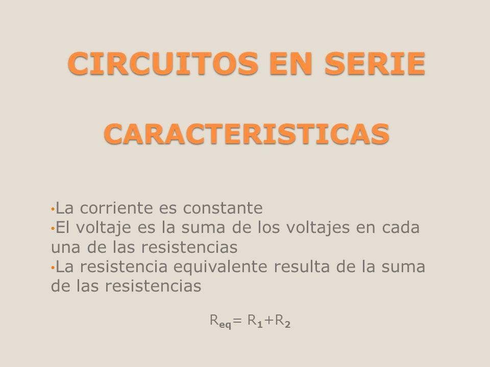 CIRCUITOS EN SERIE CARACTERISTICAS