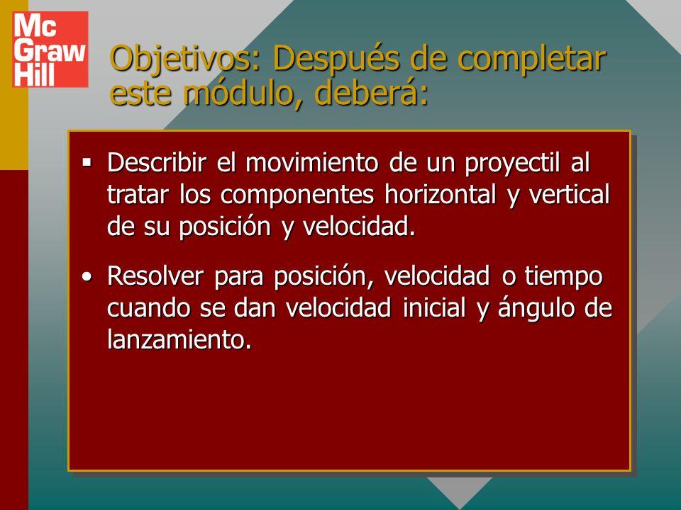 Objetivos: Después de completar este módulo, deberá: