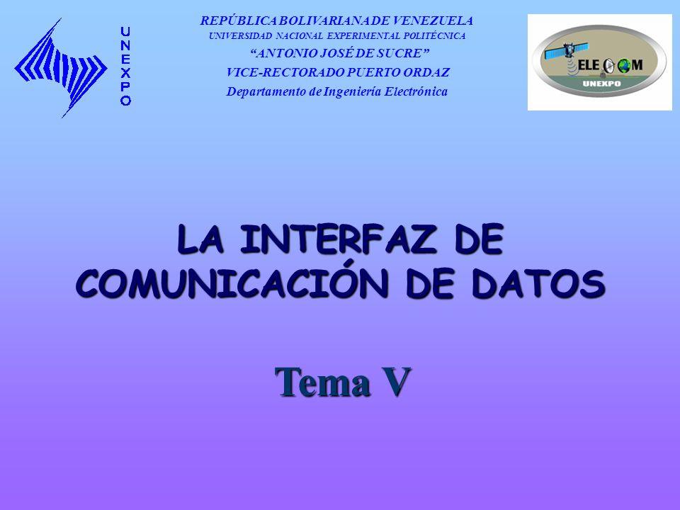 Tema V LA INTERFAZ DE COMUNICACIÓN DE DATOS