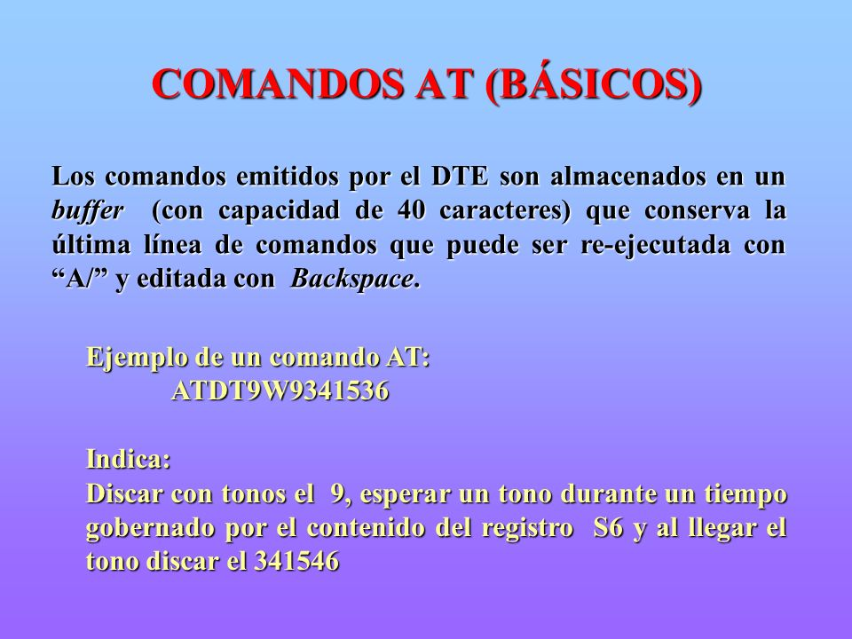 COMANDOS AT (BÁSICOS)