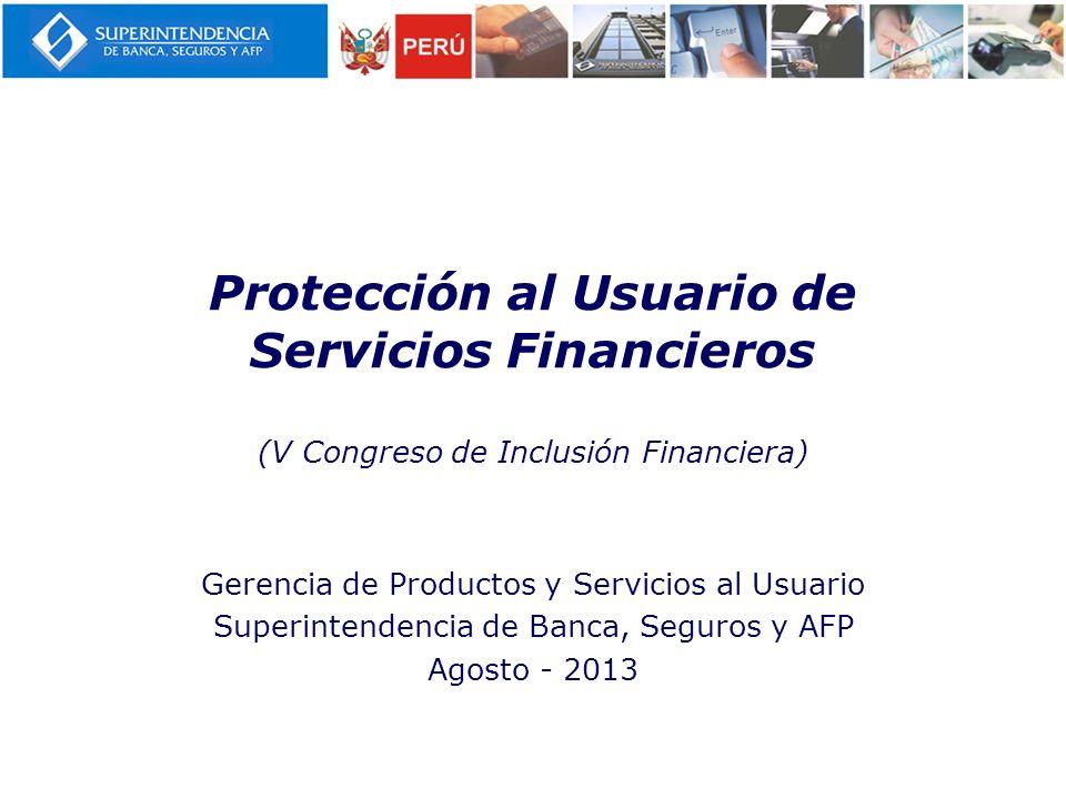 Protección al Usuario de Servicios Financieros (V Congreso de Inclusión Financiera)