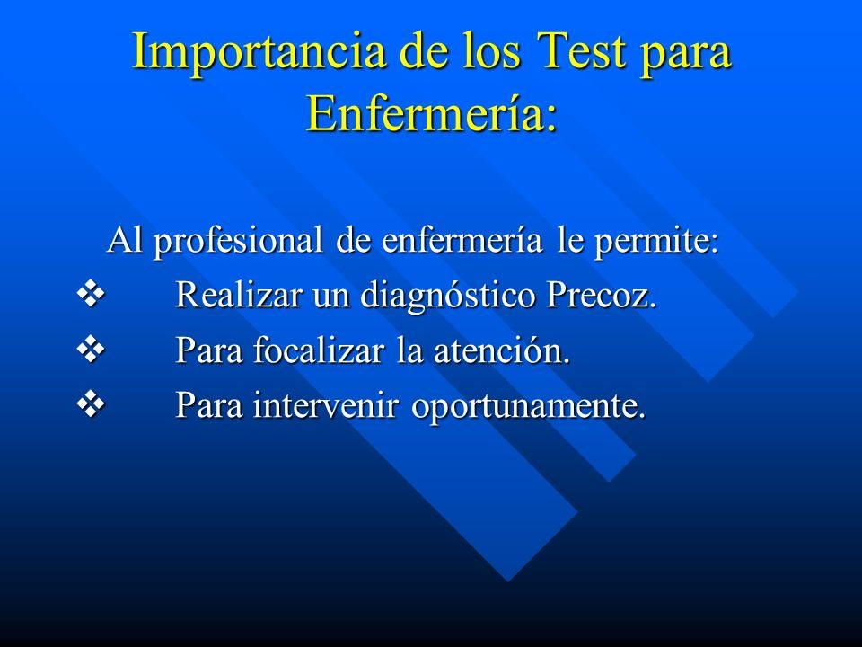 Importancia de los Test para Enfermería: