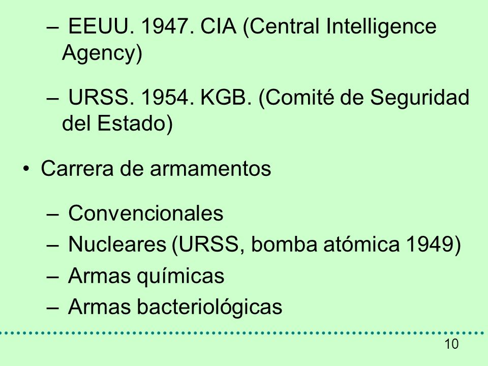 EEUU. 1947. CIA (Central Intelligence Agency)