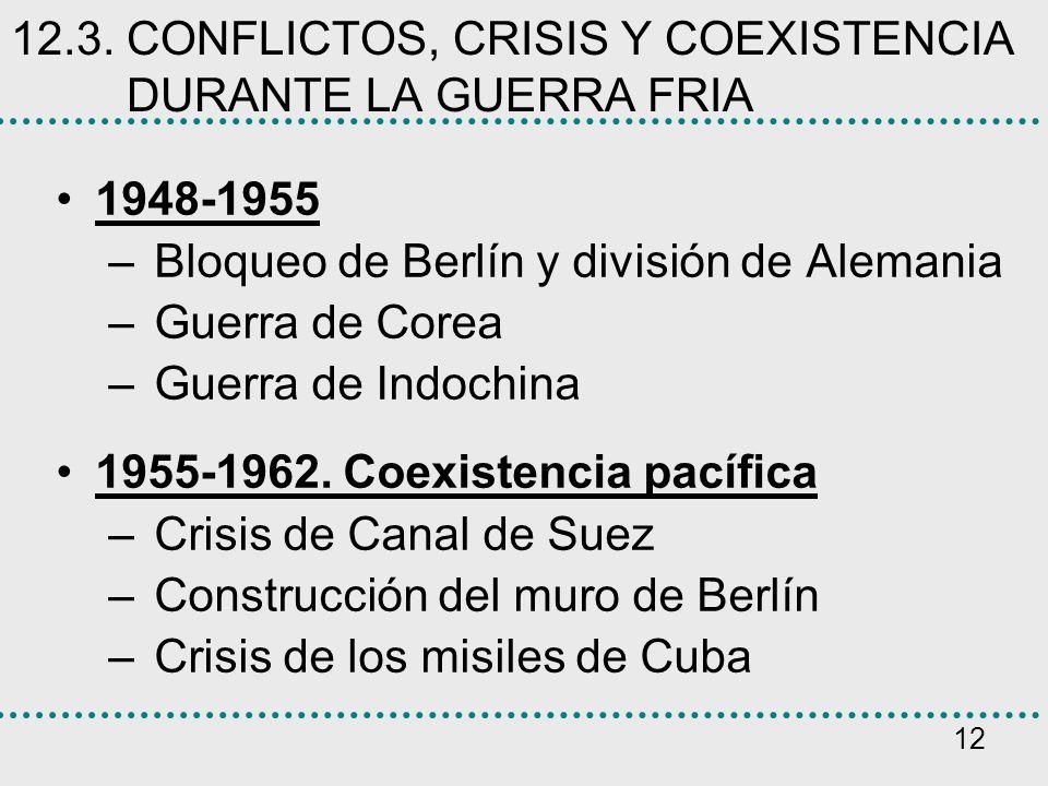 12.3. CONFLICTOS, CRISIS Y COEXISTENCIA DURANTE LA GUERRA FRIA