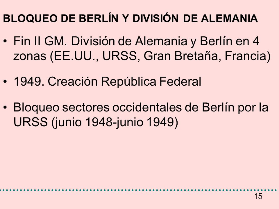 1949. Creación República Federal
