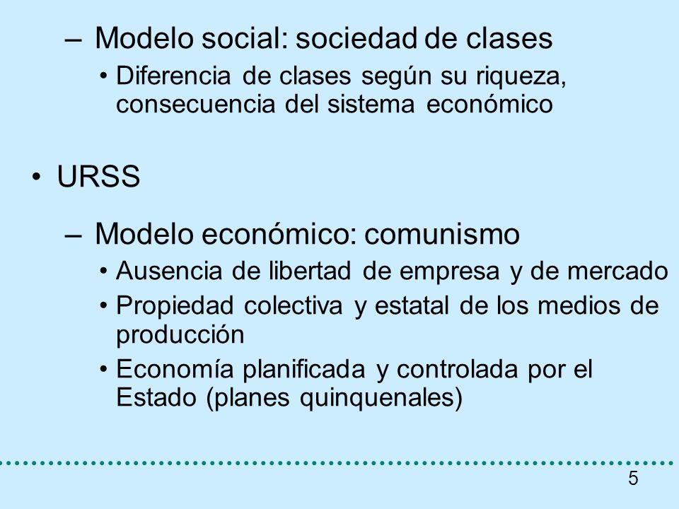 Modelo social: sociedad de clases