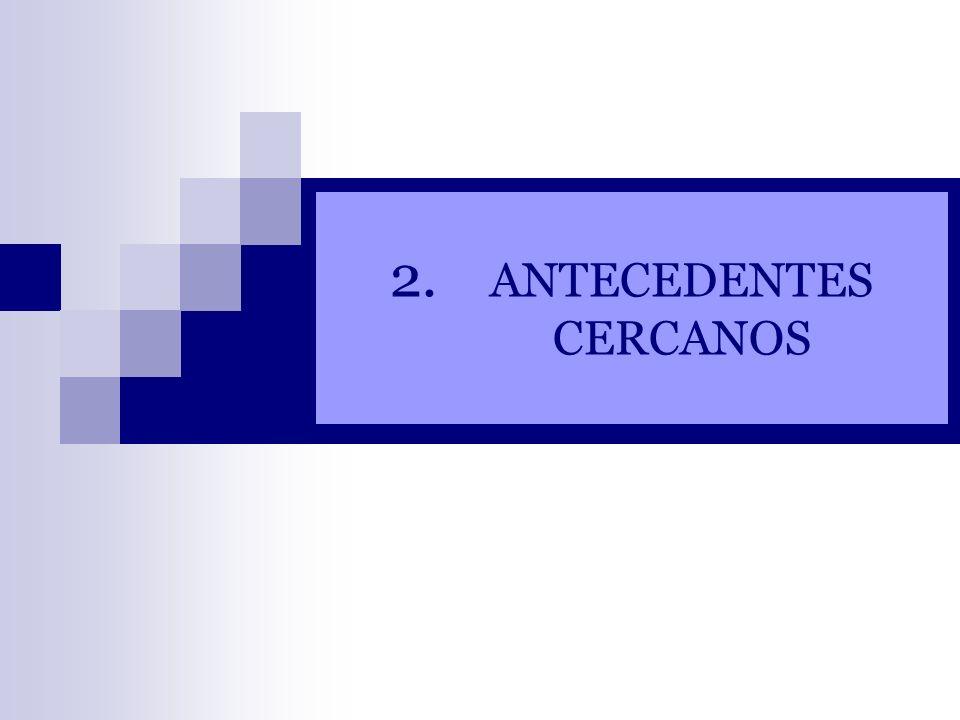 ANTECEDENTES CERCANOS