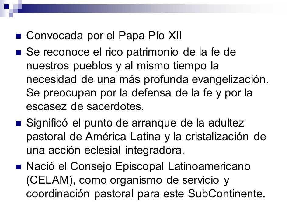 Convocada por el Papa Pío XII