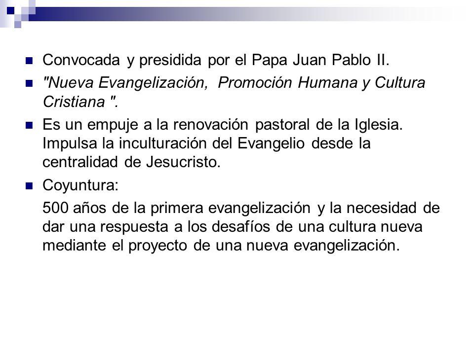 Convocada y presidida por el Papa Juan Pablo II.