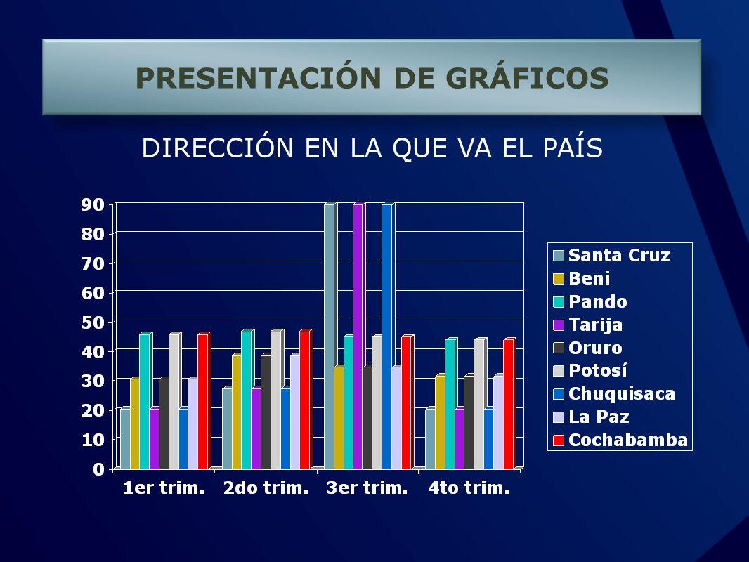 PRESENTACIÓN DE GRÁFICOS