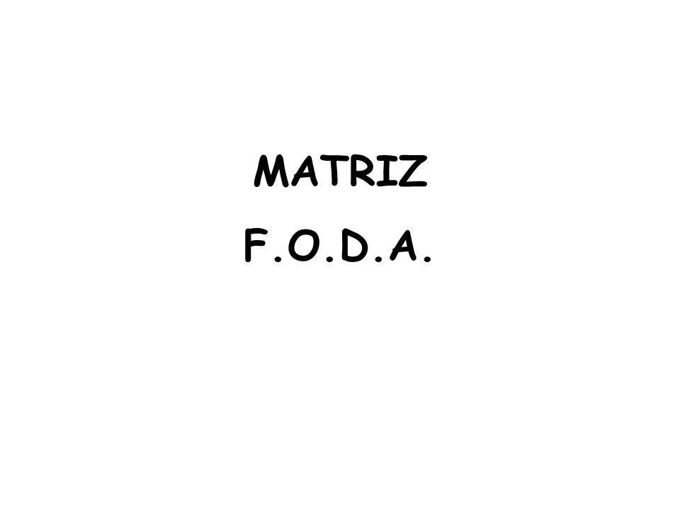MATRIZ F.O.D.A.