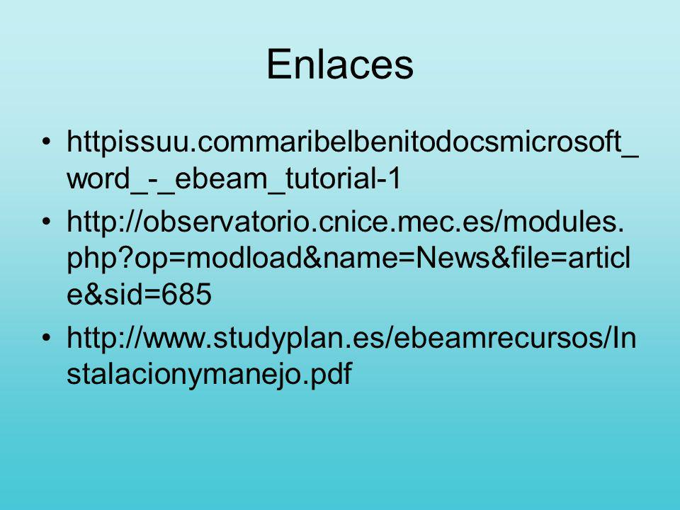 Enlaceshttpissuu.commaribelbenitodocsmicrosoft_word_-_ebeam_tutorial-1.