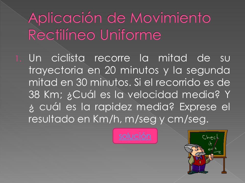 Aplicación de Movimiento Rectilíneo Uniforme
