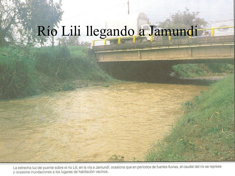 Río Lili llegando a Jamundi