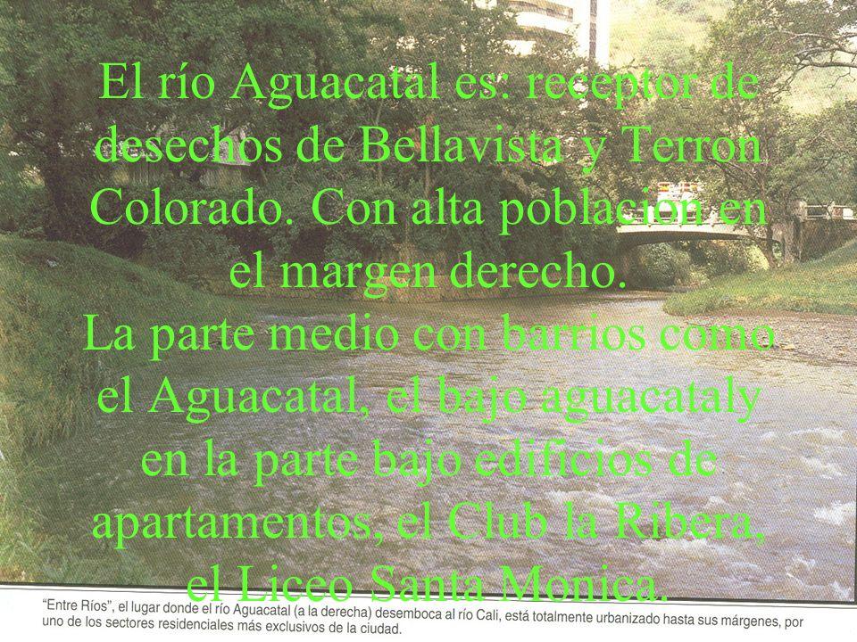 El río Aguacatal es: receptor de desechos de Bellavista y Terron Colorado.