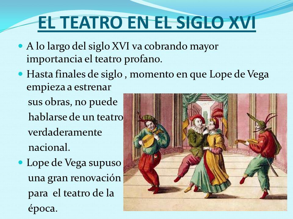 EL TEATRO EN EL SIGLO XVI