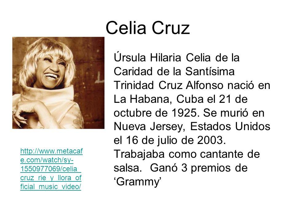 Celia Cruz Úrsula Hilaria Celia de la Caridad de la Santísima