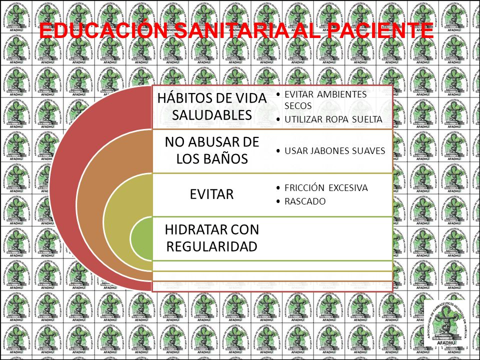 EDUCACIÓN SANITARIA AL PACIENTE